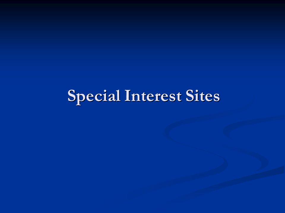 Special Interest Sites