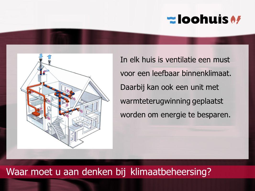 klimaatbeheersing?Waar moet u aan denken bij In elk huis is ventilatie een must voor een leefbaar binnenklimaat. Daarbij kan ook een unit met warmtete