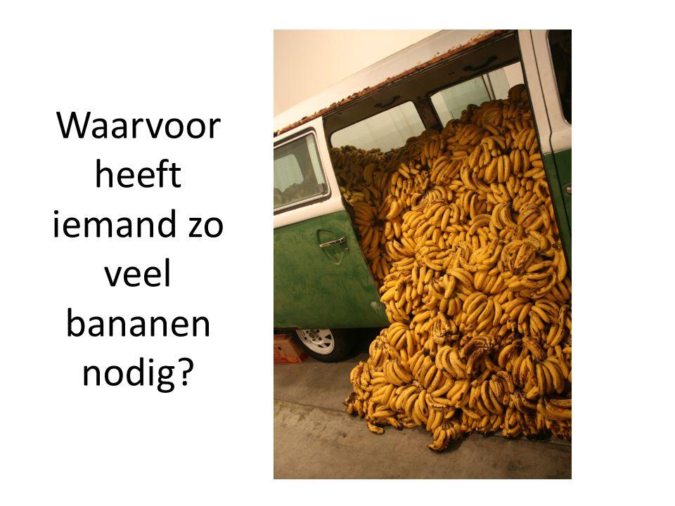 Waarvoor heeft iemand zo veel bananen nodig?
