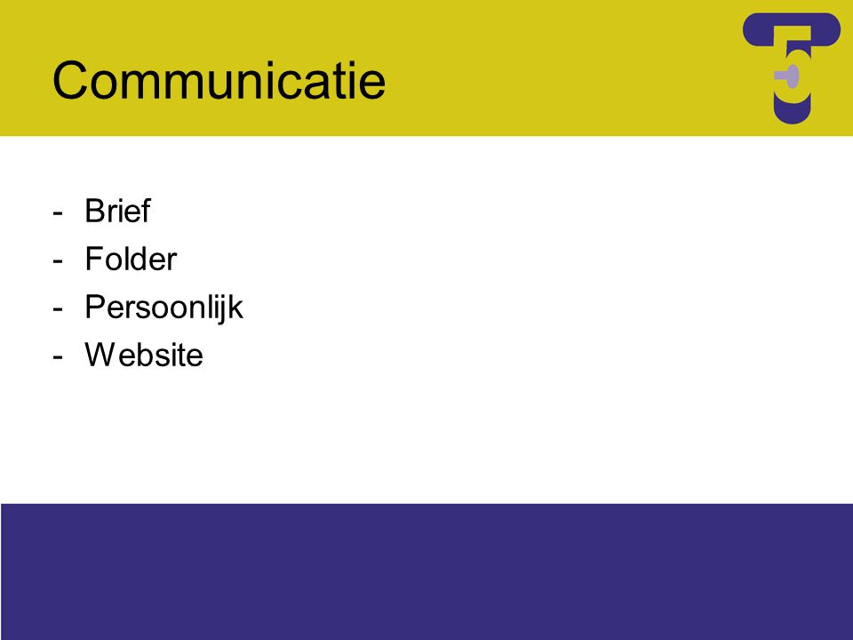 Communicatie -Brief -Folder -Persoonlijk -Website