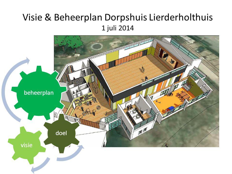Visie & Beheerplan Dorpshuis Lierderholthuis 1 juli 2014 beheerplan doel visie