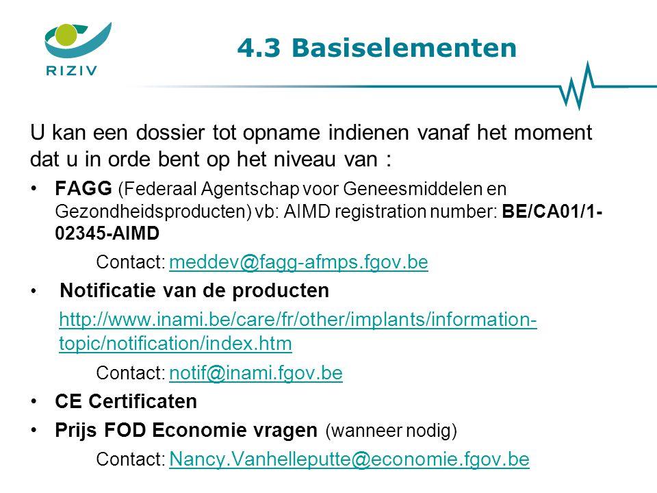 Notificatie van de producten Notificatiecode >< identificatiecode 20