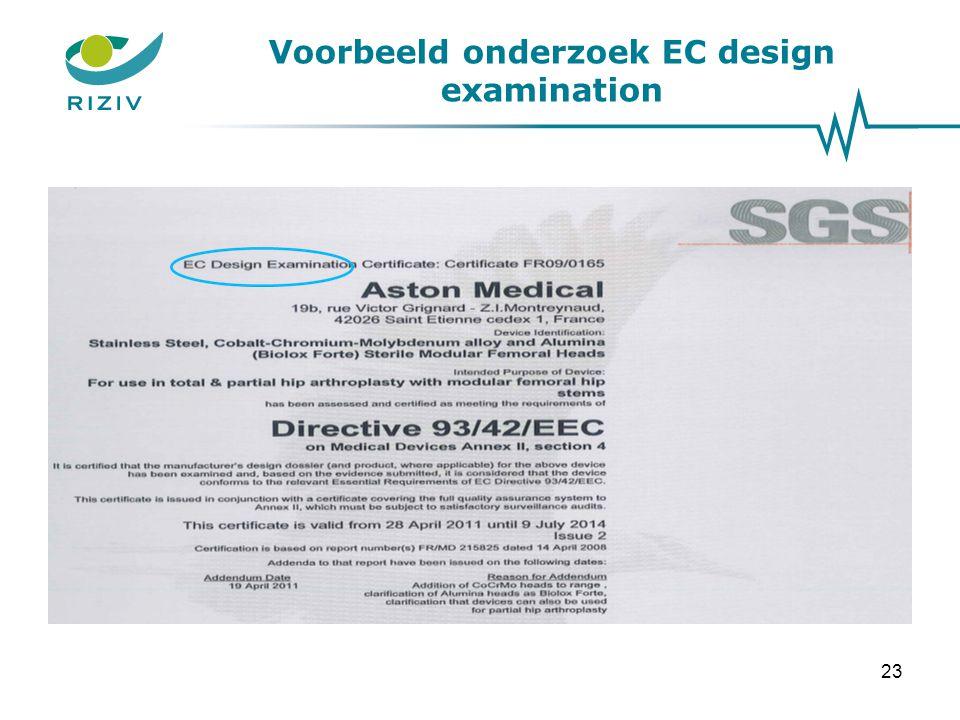 Voorbeeld onderzoek EC design examination 23