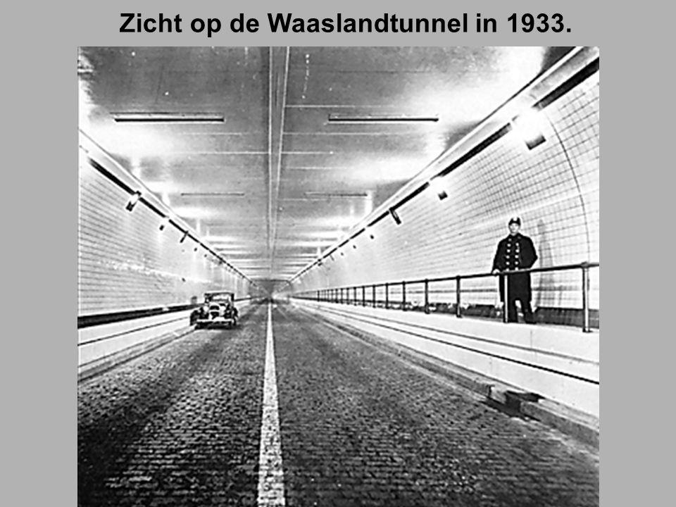 Zicht op de Waaslandtunnel in 1933.