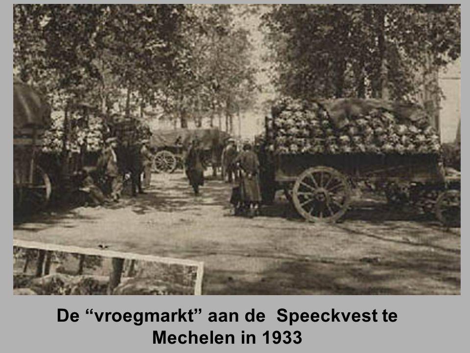 De vroegmarkt aan de Speeckvest te Mechelen in 1933