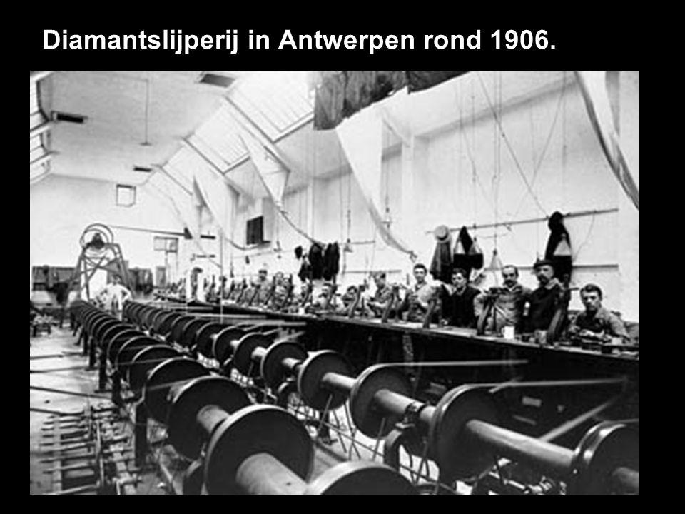 Diamantslijperij in Antwerpen rond 1906.
