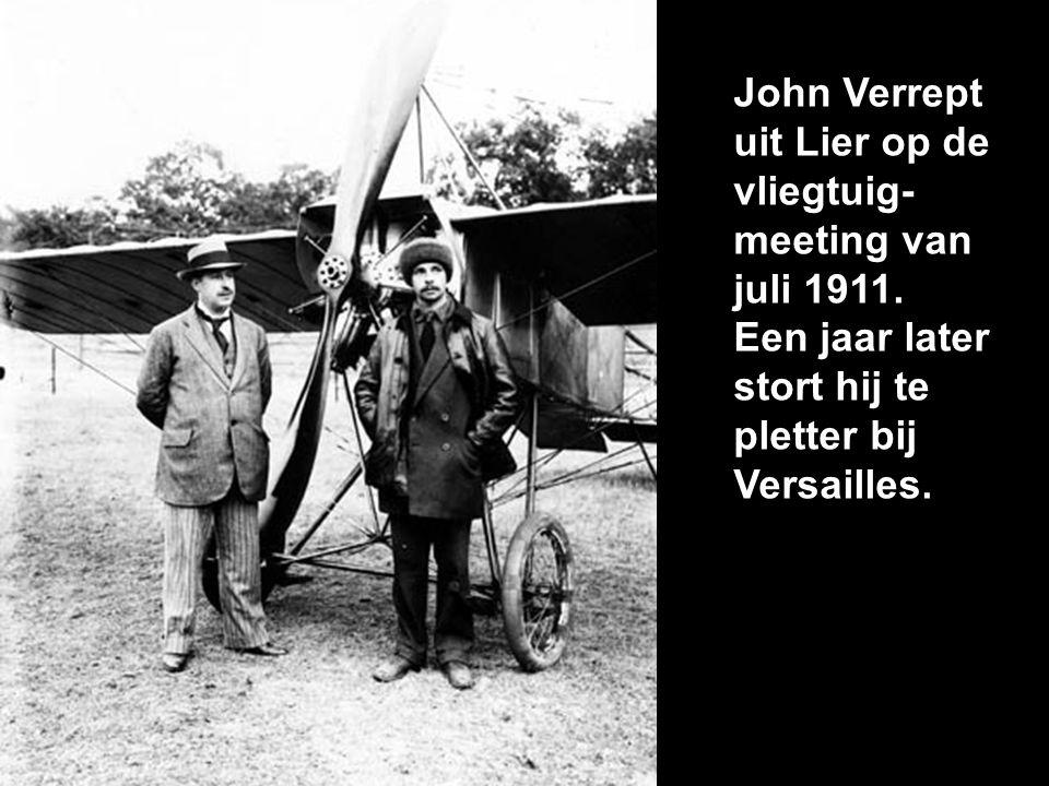 John Verrept uit Lier op de vliegtuig- meeting van juli 1911.