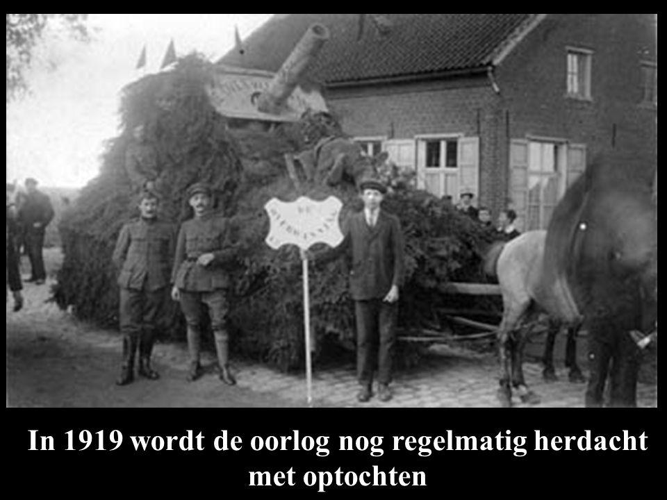In 1919 wordt de oorlog nog regelmatig herdacht met optochten