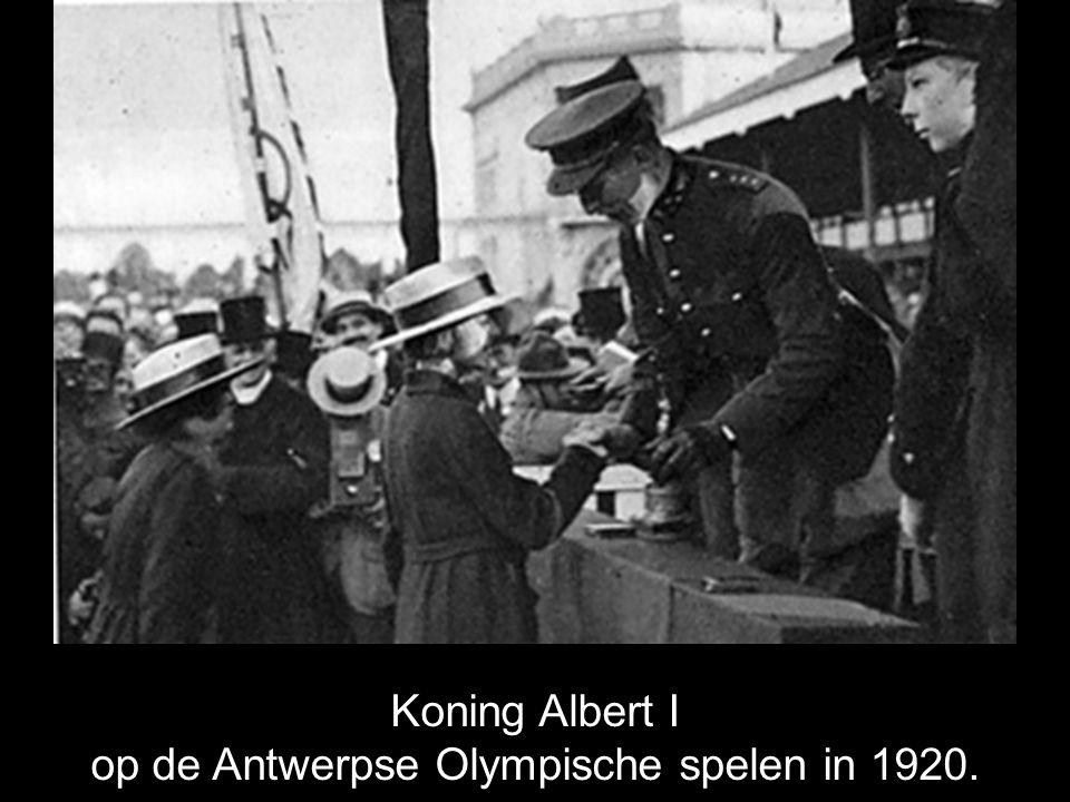 Koning Albert I op de Antwerpse Olympische spelen in 1920.