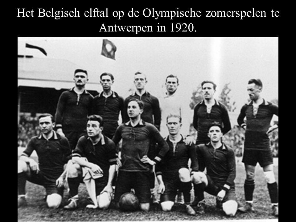 Het Belgisch elftal op de Olympische zomerspelen te Antwerpen in 1920.