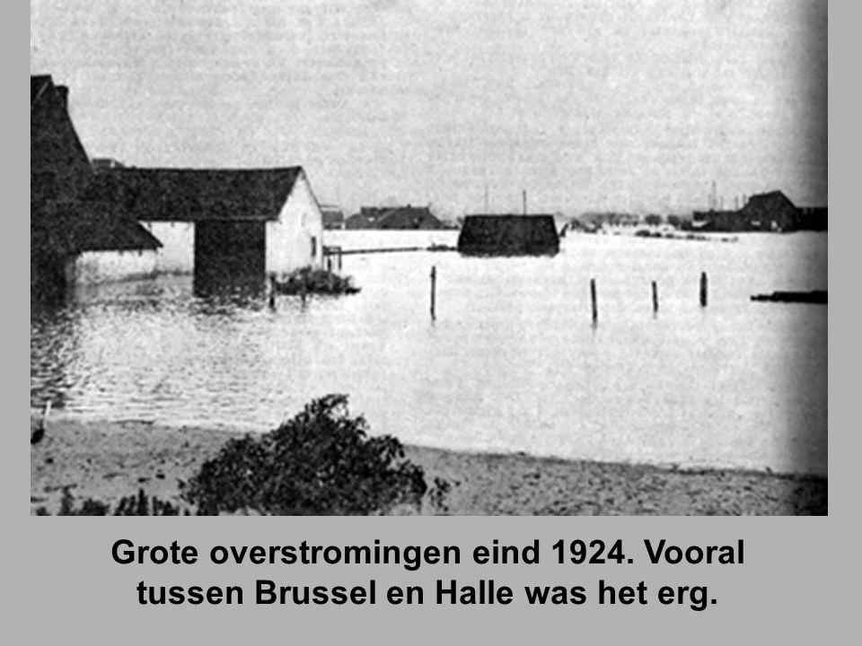 Grote overstromingen eind 1924. Vooral tussen Brussel en Halle was het erg.
