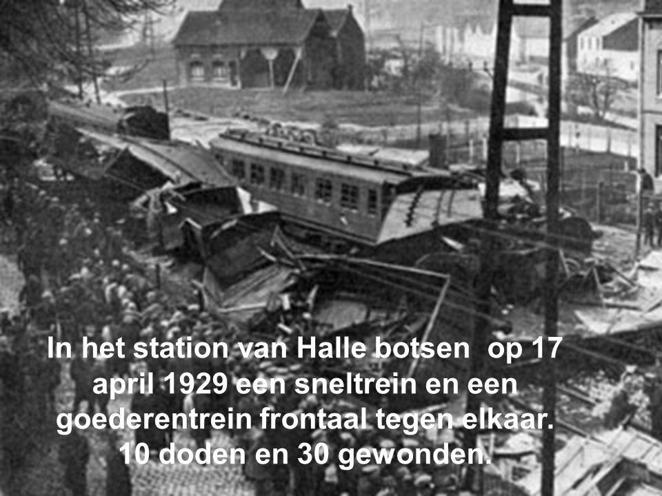 In het station van Halle botsen op 17 april 1929 een sneltrein en een goederentrein frontaal tegen elkaar.