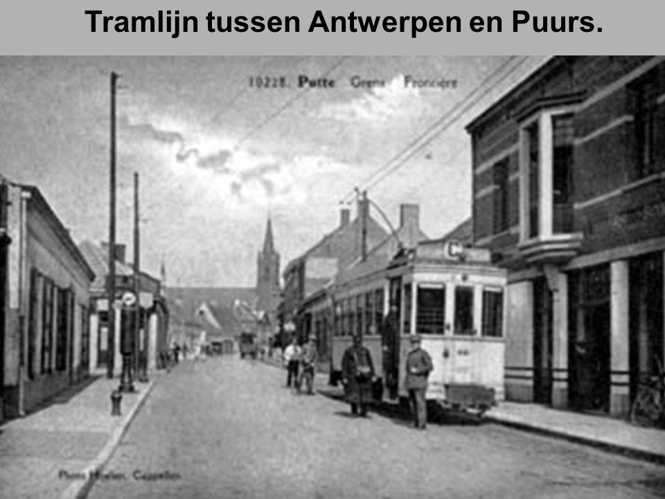 Tramlijn tussen Antwerpen en Puurs.