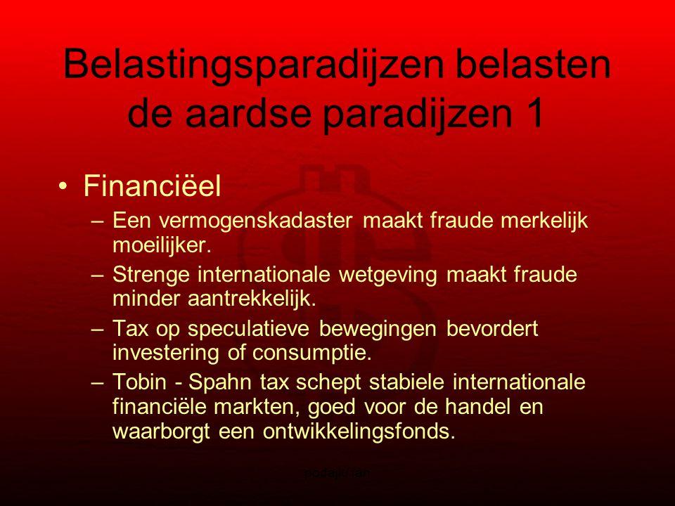podajk/ fan Belastingsparadijzen belasten de aardse paradijzen 1 Financiëel –Een vermogenskadaster maakt fraude merkelijk moeilijker.
