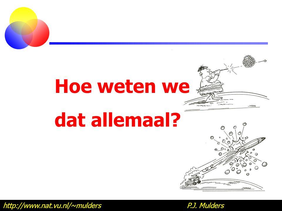 Hoe weten we dat allemaal? http://www.nat.vu.nl/~mulders P.J. Mulders