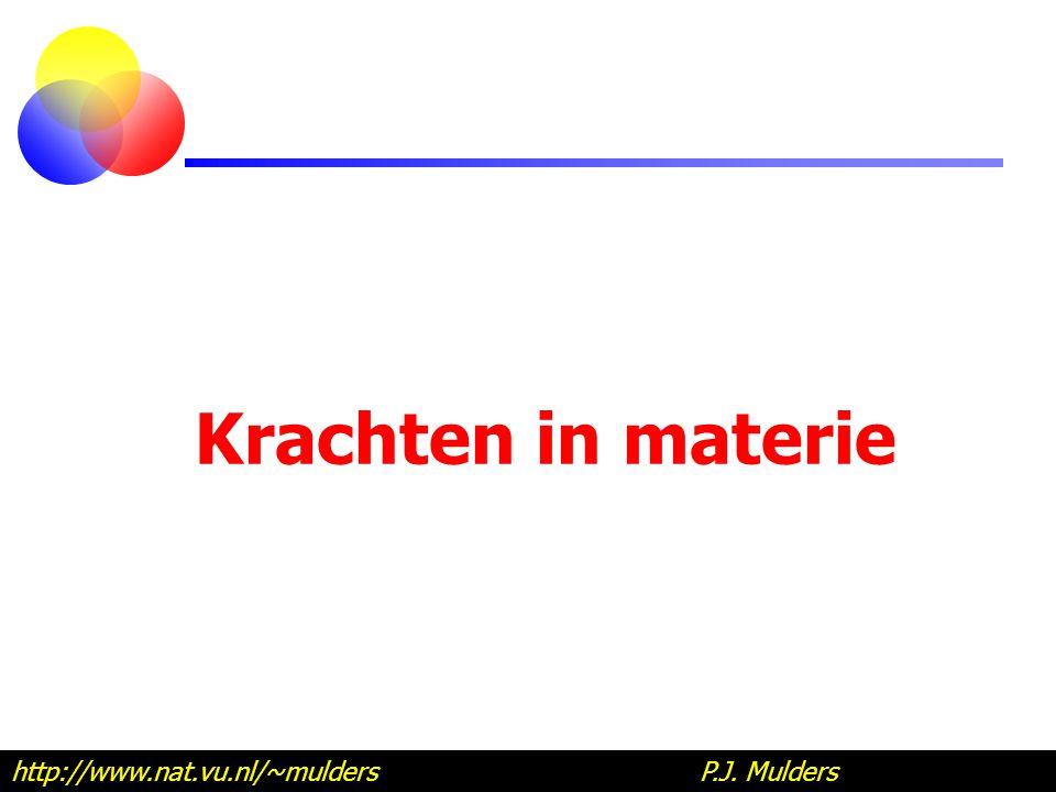 Krachten in materie http://www.nat.vu.nl/~mulders P.J. Mulders