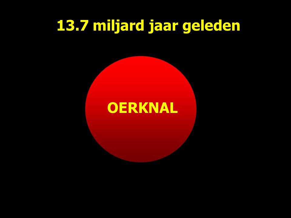 OERKNAL 13.7 miljard jaar geleden