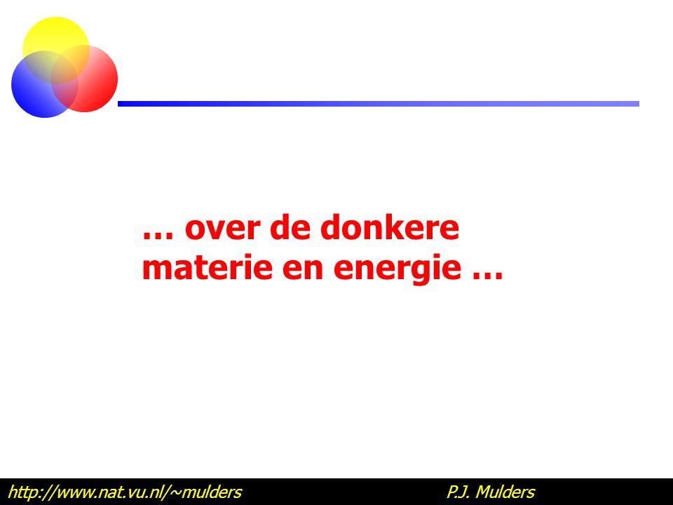 … over de donkere materie en energie … http://www.nat.vu.nl/~mulders P.J. Mulders