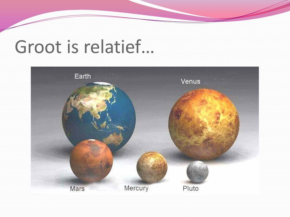 Zonnestelsel op schaal Gebruik dezelfde schaal om de onderlinge afstanden tss verschillende planeten en de zon te bepalen.