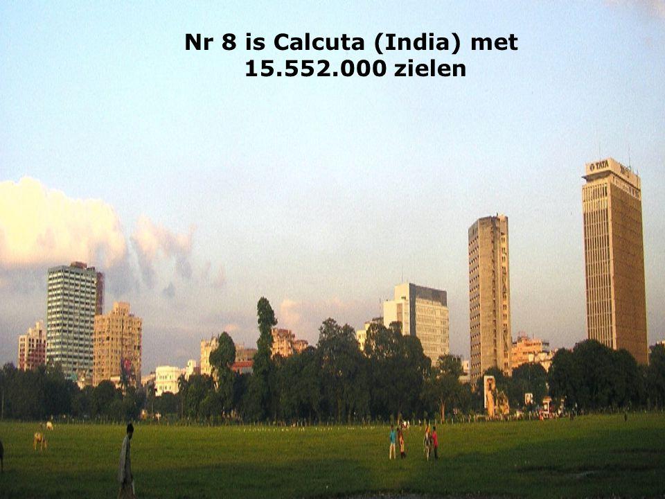 Nr 8 is Calcuta (India) met 15.552.000 zielen