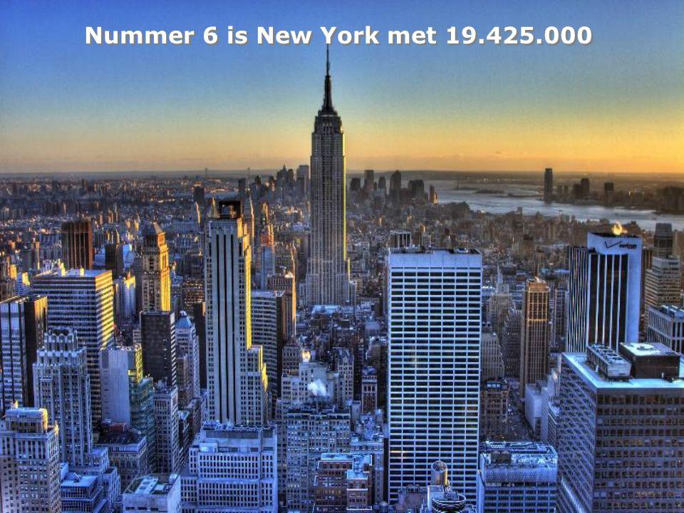 Nummer 6 is New York met 19.425.000