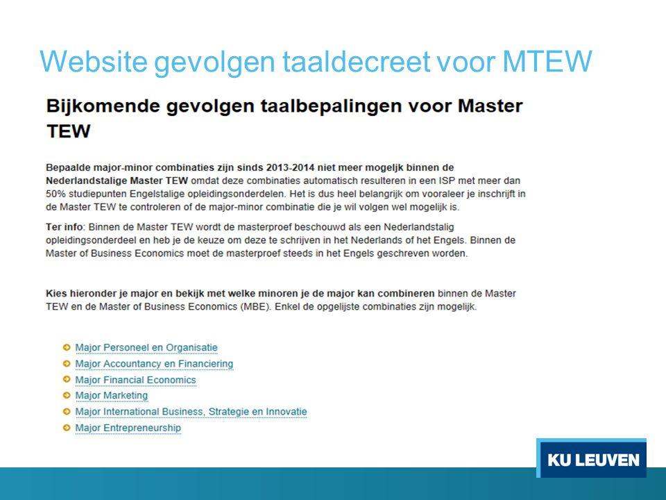 Website gevolgen taaldecreet voor MTEW