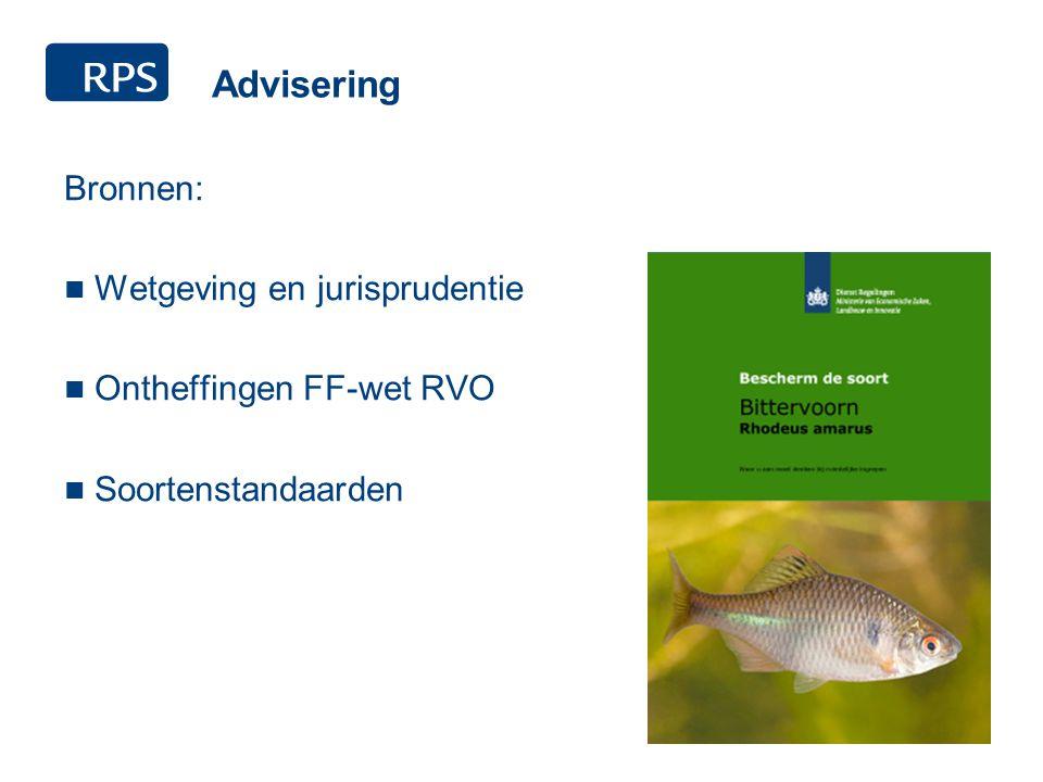 Advisering Bronnen: Wetgeving en jurisprudentie Ontheffingen FF-wet RVO Soortenstandaarden
