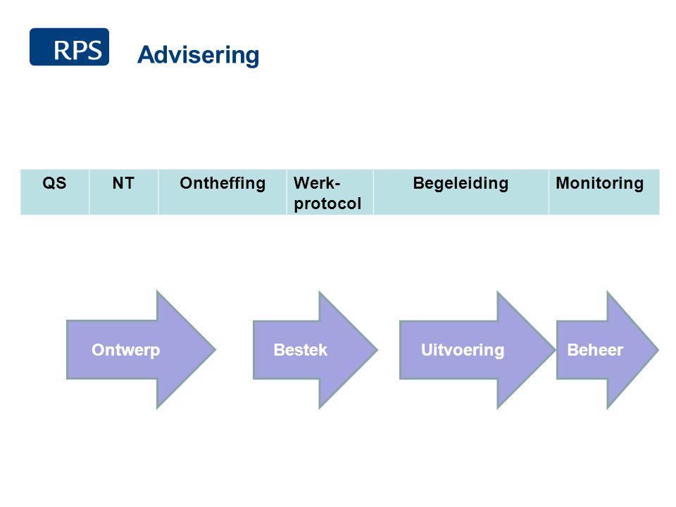 Advisering QSNTOntheffingWerk- protocol BegeleidingMonitoring Ontwerp BestekUitvoering Beheer
