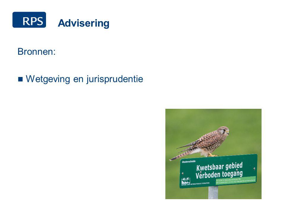 Advisering Bronnen: Wetgeving en jurisprudentie Ontheffingen FF-wet RVO