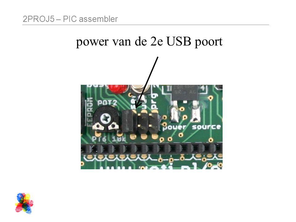 2PROJ5 – PIC assembler power van de 2e USB poort