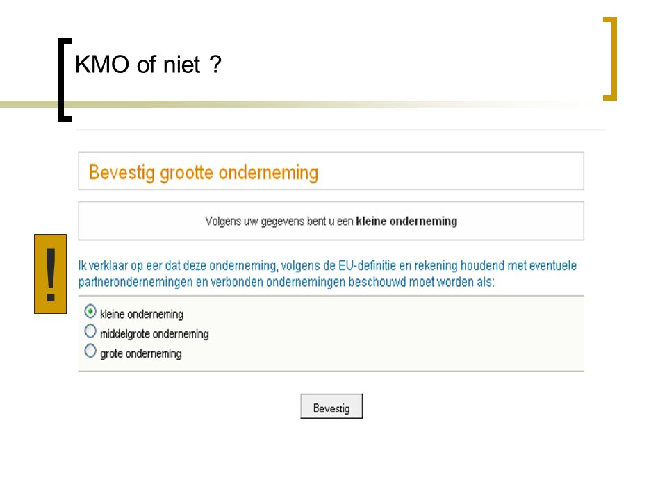KMO of niet !