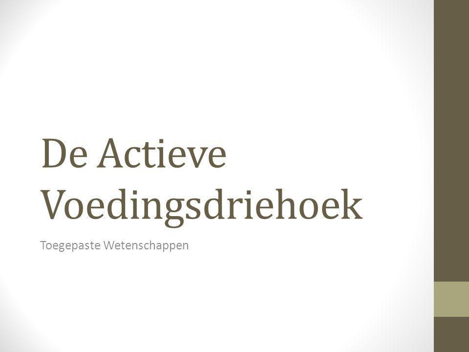 Inhoudstafel 1.Wat is de Actieve Voedingsdriehoek.