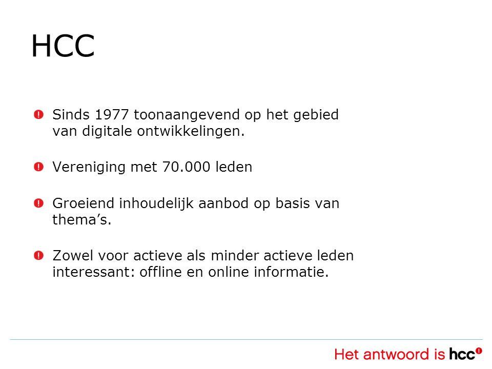 HCC Sinds 1977 toonaangevend op het gebied van digitale ontwikkelingen.