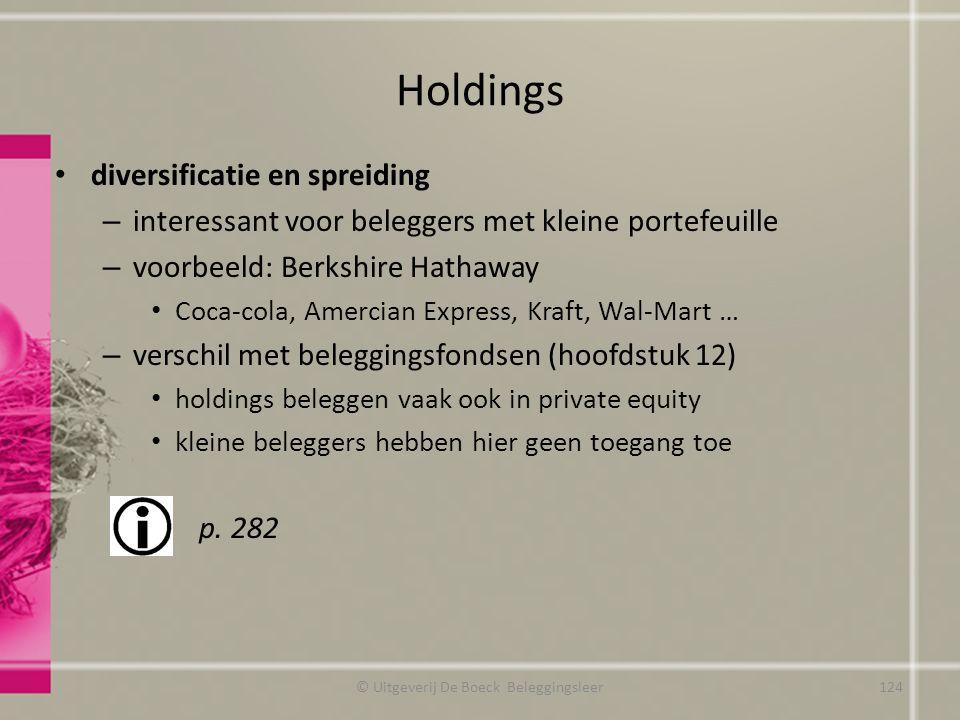 Holdings diversificatie en spreiding – interessant voor beleggers met kleine portefeuille – voorbeeld: Berkshire Hathaway Coca-cola, Amercian Express,
