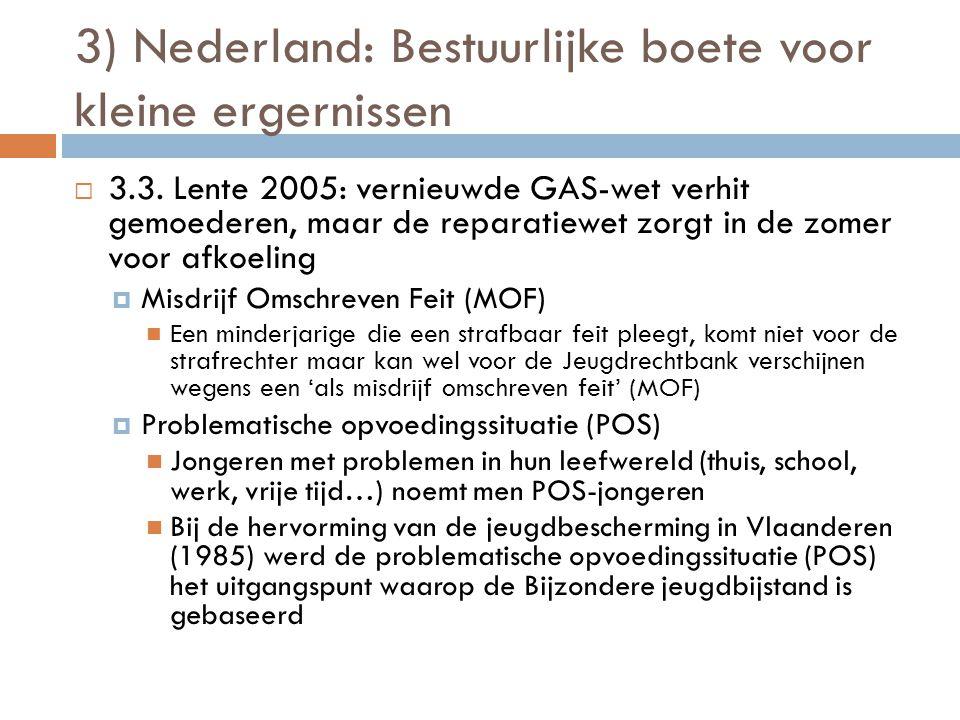 3) Nederland: Bestuurlijke boete voor kleine ergernissen  3.3. Lente 2005: vernieuwde GAS-wet verhit gemoederen, maar de reparatiewet zorgt in de zom