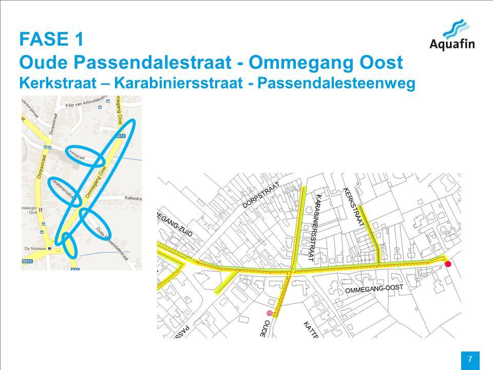 15-12-2010 Aquafin partner for all wastewater projects 7 FASE 1 Oude Passendalestraat - Ommegang Oost Kerkstraat – Karabiniersstraat - Passendalesteen