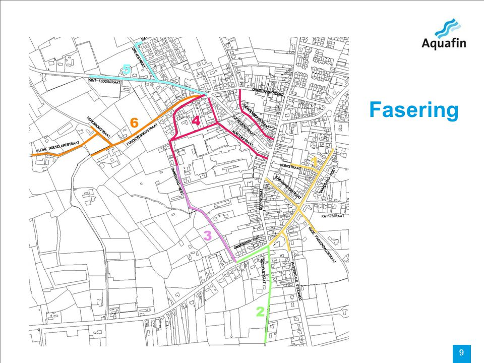 15-12-2010 Aquafin partner for all wastewater projects 10 FASE 2: Ommegang Zuid - Dosselstraat