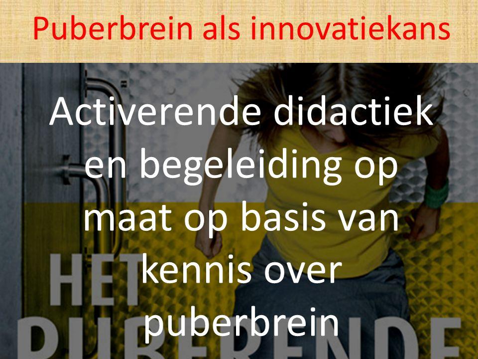 Activerende didactiek en begeleiding op maat op basis van kennis over puberbrein Puberbrein als innovatiekans