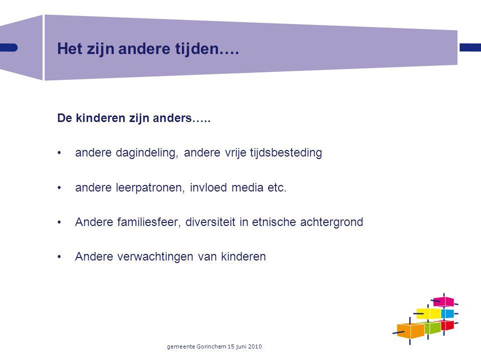gemeente Gorinchem 15 juni 2010 Het zijn andere tijden….