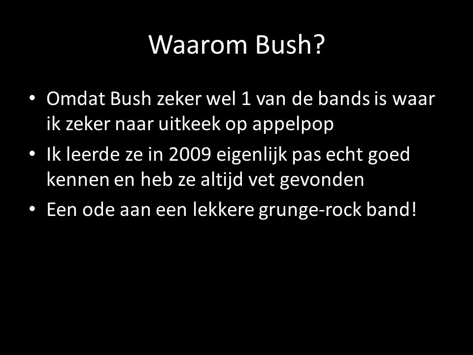 Recensie puntjes + mijn reactie erop De recensie heeft het over dat Guus Meeuwis de headliner is en Bush de co-headliner.