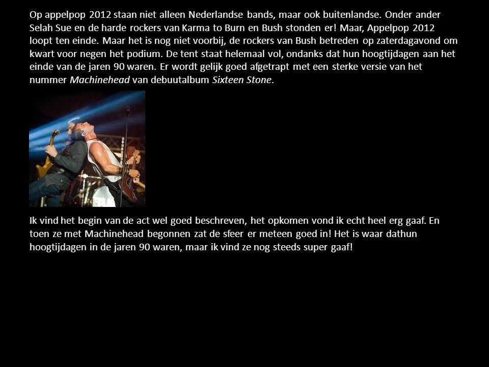 Op appelpop 2012 staan niet alleen Nederlandse bands, maar ook buitenlandse.