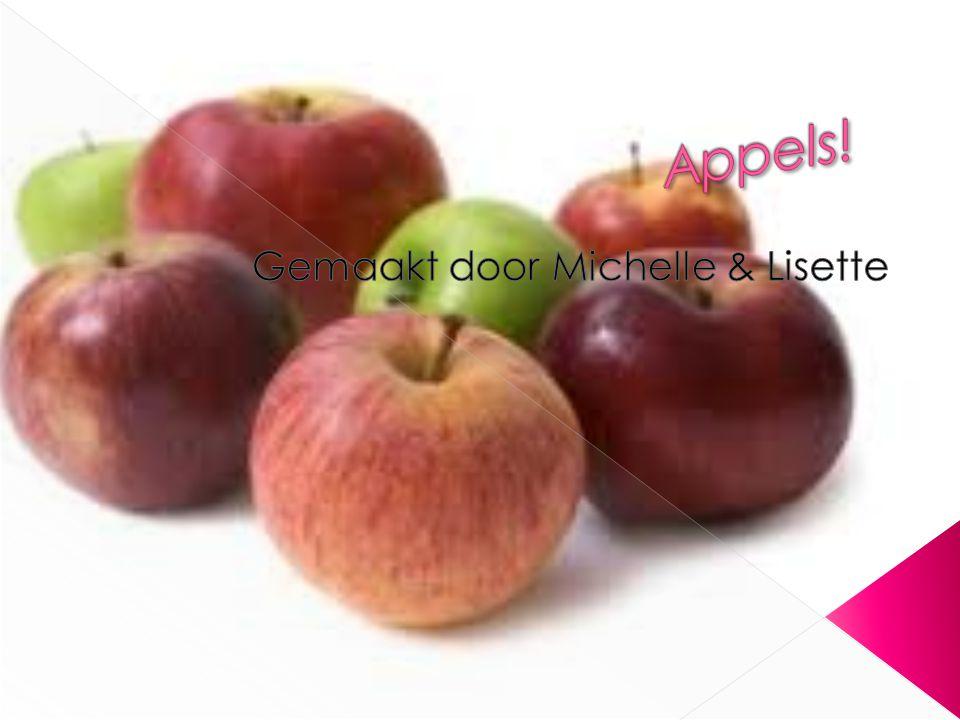  De Fuji-appels zijn rood-roze van kleur, rond van vorm en ongeveer de grootte van een honkbal.
