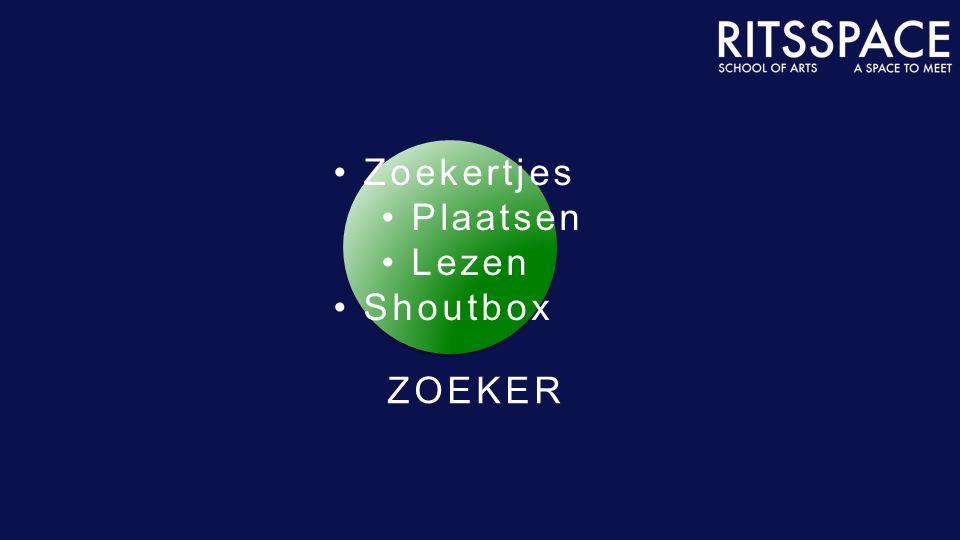 ZOEKER Zoekertjes Plaatsen Lezen Shoutbox