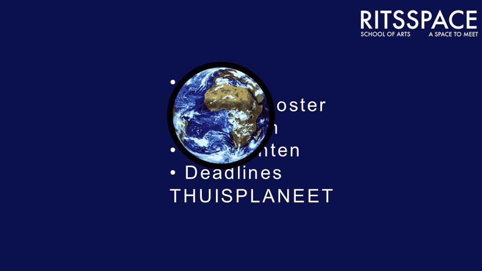 THUISPLANEET Profiel Lessenrooster Berichten Opdrachten Deadlines