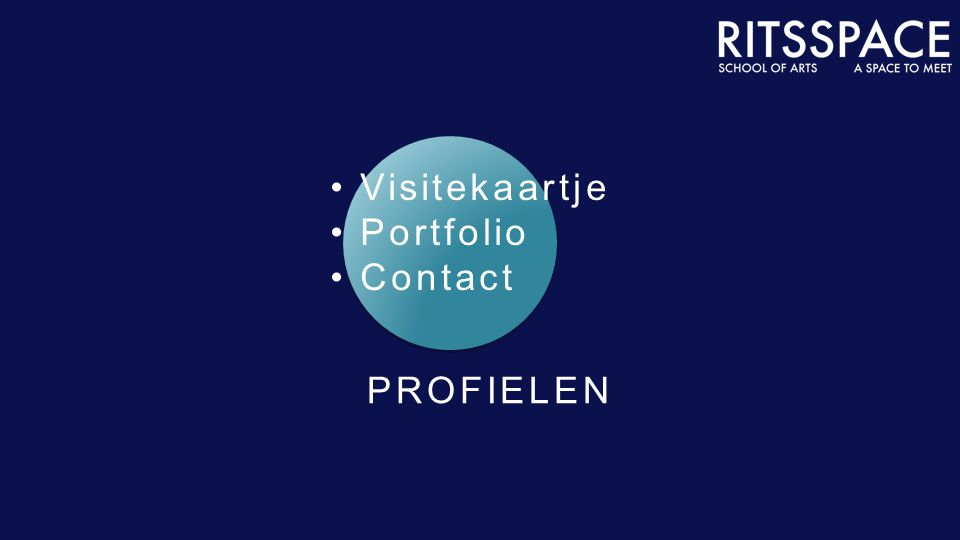 PROFIELEN Visitekaartje Portfolio Contact