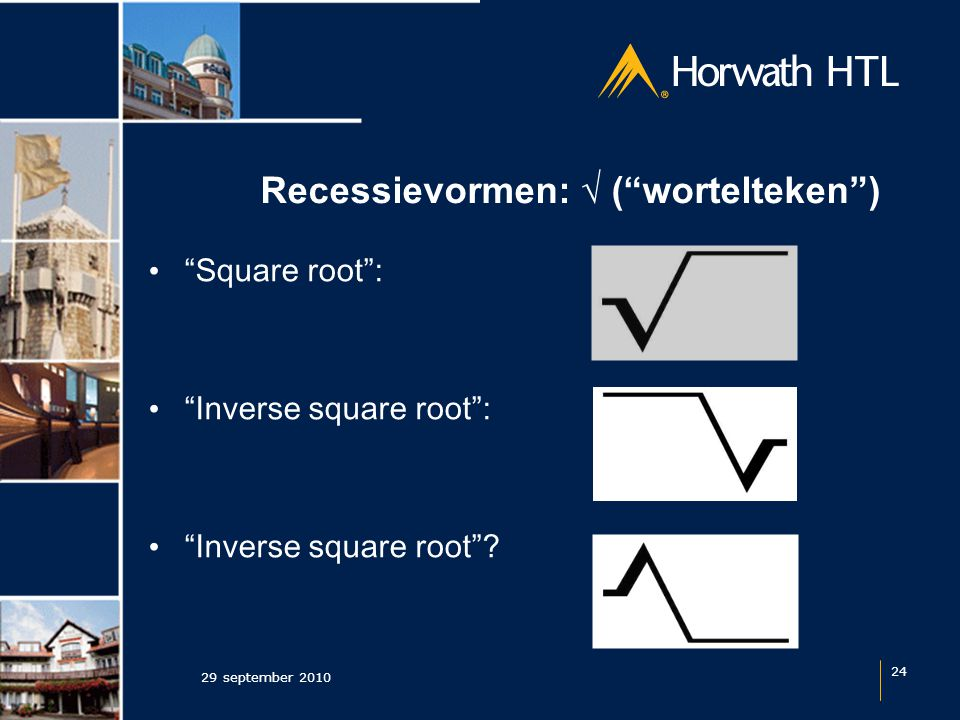 Recessievormen: √ ( wortelteken ) 29 september 2010 24 Square root : Inverse square root : Inverse square root