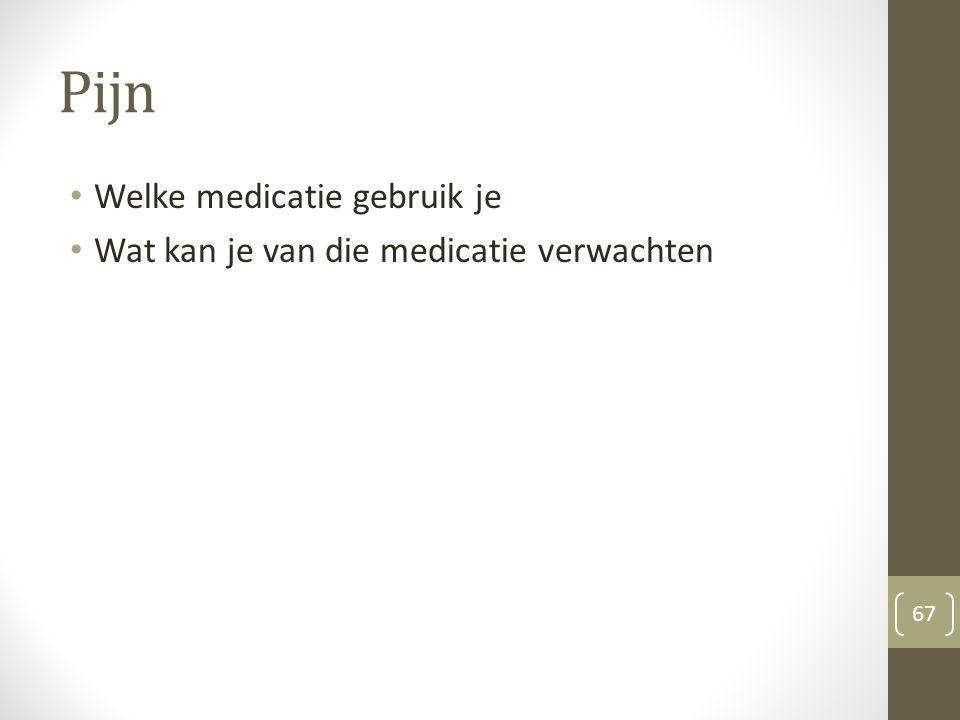 Pijn Welke medicatie gebruik je Wat kan je van die medicatie verwachten 67