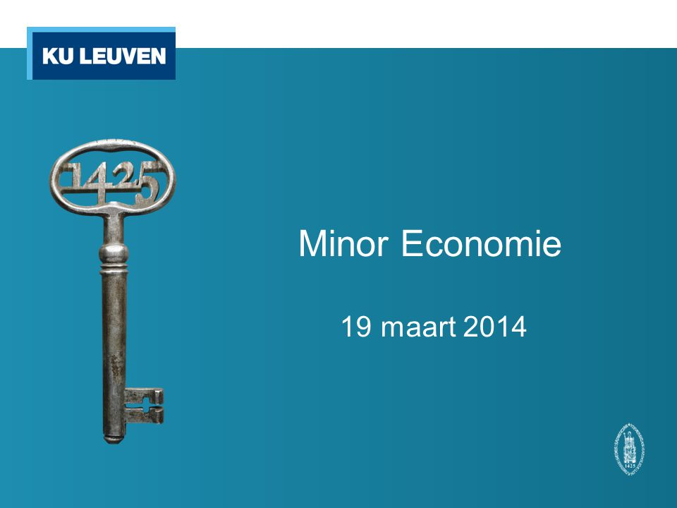 Minor Economie 19 maart 2014