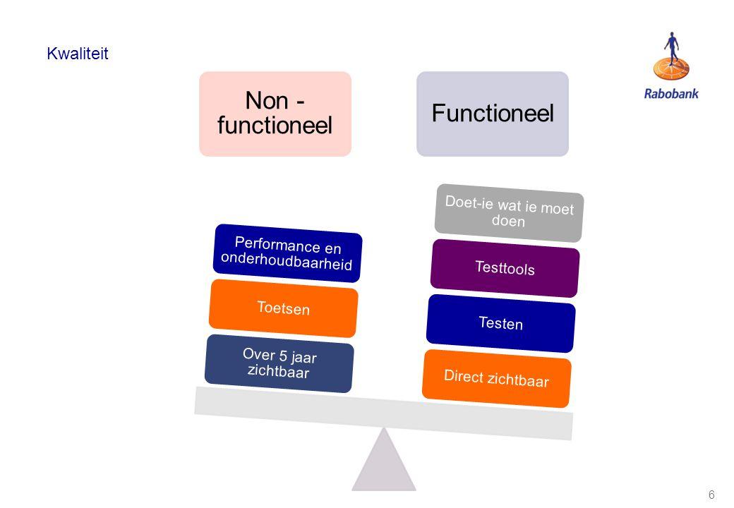 7 Non functionele kwaliteitscriteria Programma Ontwerp Codering Naamgeving Verboden keywords Best practices Gij zult een programma structureren