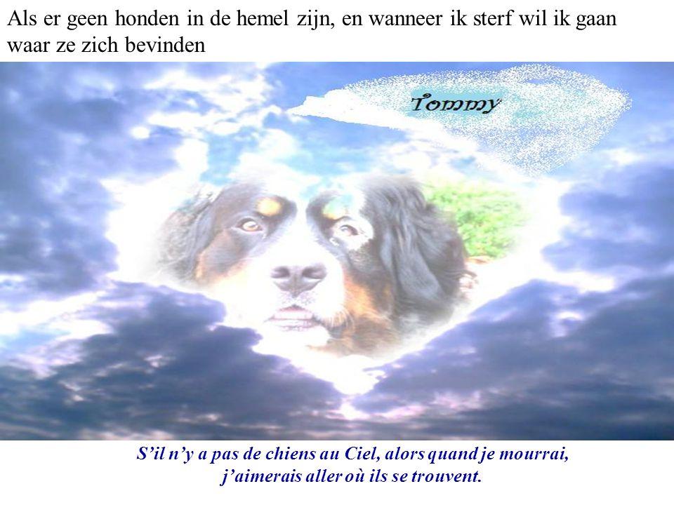 S'il n'y a pas de chiens au Ciel, alors quand je mourrai, j'aimerais aller où ils se trouvent.